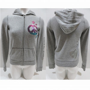 Victoria's Secret PINK hoodie XS peace star bling